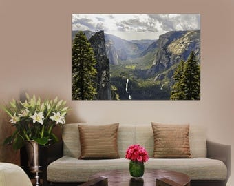 Green Forest, mountains and Trees Large Wall Art Print, Forest Canvas Print, Forest wall art, Spring Canvas, Wall Art Canvas Print,Wall art.