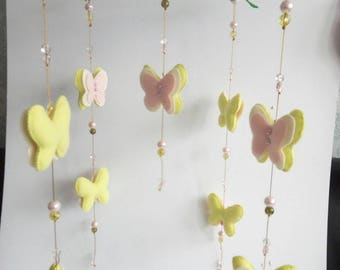 Butterfly Mobile/ Baby Mobile/ Nursery Mobile/ Mobile Crib/ Cot Mobile/  Felt mobile/ Baby  Mobile Hanging/ baby girl mobile