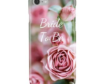 Personalised Wedding, Mother of the Bride or Bride To Be - Pink Roses - Protective Glossy Phone Cover Case - iPhone iP Samsung Galaxy GS