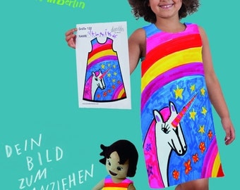 DRESS - your imagination to put on (individually even fashion girl, 92-164, DIY, organic cotton, organic, sustainable)