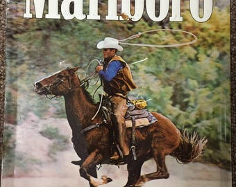 Vintage 1970's Marlboro Metal Cigarette Advertising sign