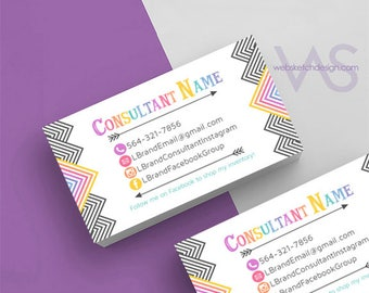 Simple Info Arrow Card Design- Information Consultant personalized