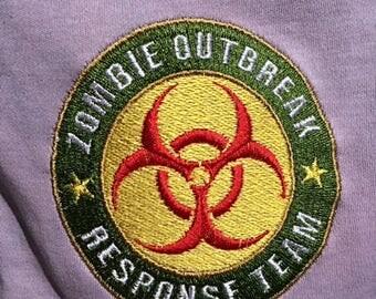 Baby boy onesie Zombie Funny Fun Shower Gift 0-3 Months Newborn Grey Biohazard Personalize