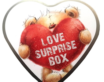 Love box surprise with voucher puzzle as a gift for lovers