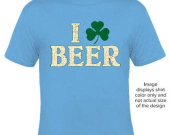 I clover Beer t-shirt Funny Saint Patricks Day Tee