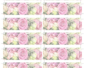 Party Popper Labels - Blush Pink