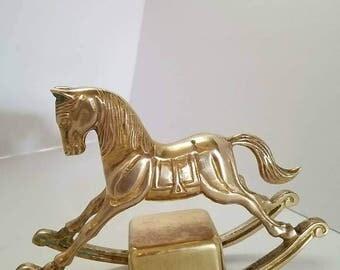 Brass Enesco Rocking Horse music box