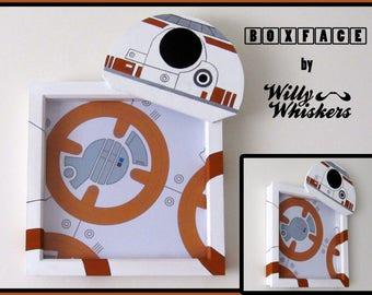 Star Wars BB8 inspired BOXFACE - Wall Art