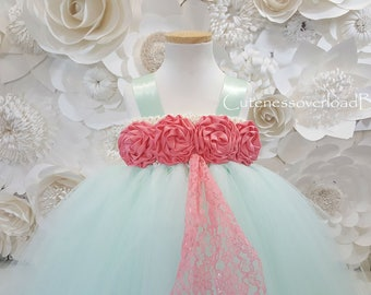 Mint Flower Girl Tutu Dress-Mint Tutu Dress-Mint Girl Tutu-Mint Baby Tutu-Mint Wedding Tutu.Mint Wedding Dress.Mint dress