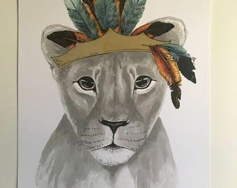 artbrush 'The Queen' (Female Lion/Lioness)