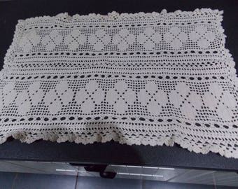 Vintage French thick crochet doily. Handmade doily. crochet tablemat (002)