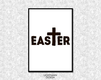 Print picture EASTER CROSS.