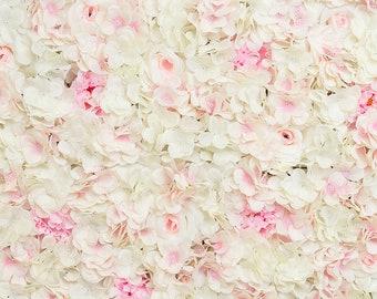 Silk Pink & White Flower Garden Backdrop Panel 4/pack