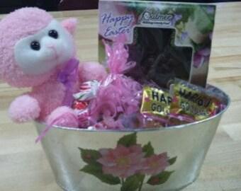 Pink Lamb Basket