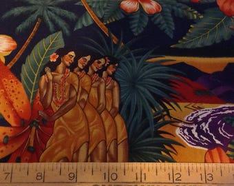 Island girls cotton fabric by the yard