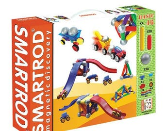 SmartRod Magnetic Discovery Set 46 pcs with Ramp