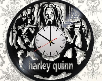 Wall clock with original design Harley Quinn