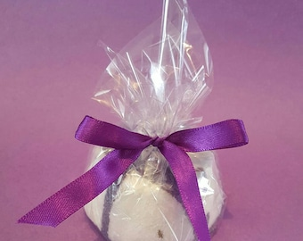 Lavender Syrup Bath Bomb - Bath Fizzy with Lavender Buds All Natural