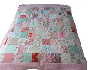 Memory Quilt - from Baby Clothes (Double Bed Sized)
