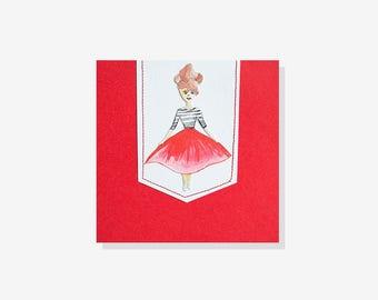 Girl in the red skirt