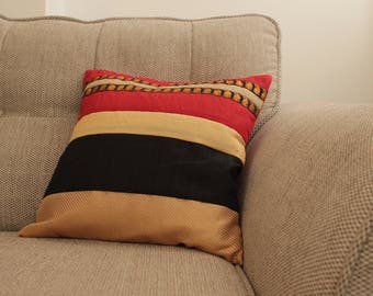 Gold red black cushions (SET OF 5)