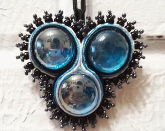Necklace, Blue Pendant