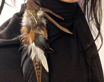 Humble Warrior Feather Earring - Shambhala Burning Man Fashion