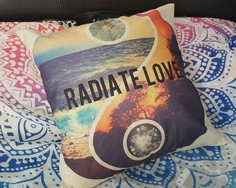 Radiate Love Cushion Cover. hippie. boho.