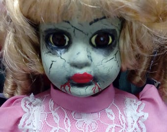 Creepy Vampire Gothic Zombie Doll Walking Dead