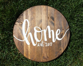 Hand painted wooden HOME sign