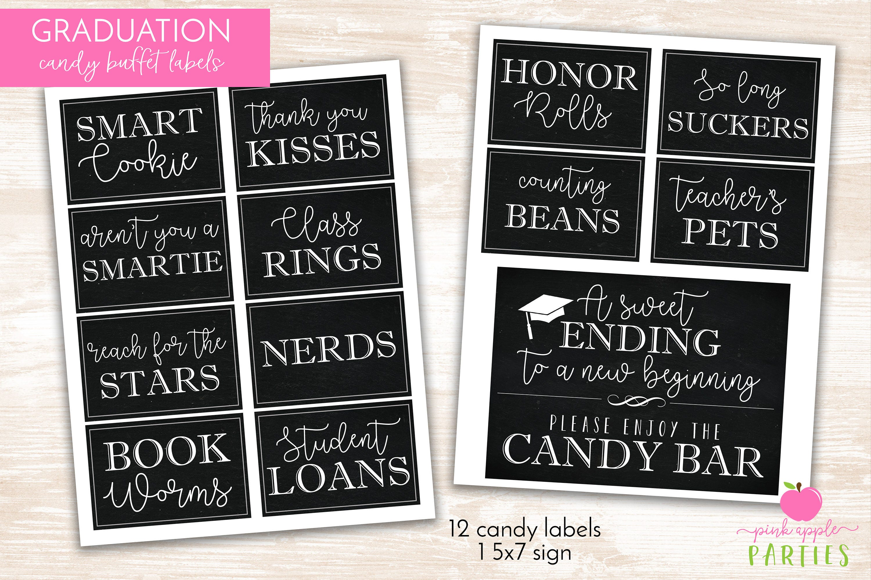 Clean image in free printable candy buffet labels