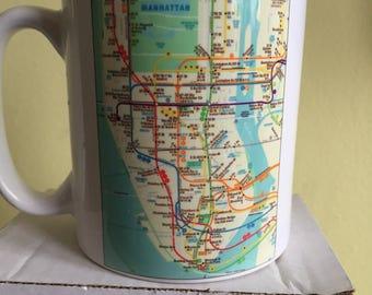 Nyc subway mug