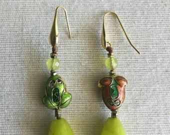 Gemstone earrings-natural
