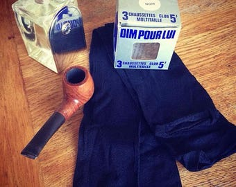 New original pair of DIM ultra thin Men Socks: 'chaussette pour LUI' ! - - Bonjour from Hercule Poirot...