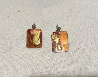 Contemplative - Copper Earrings by Leilehua Yuen