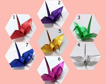 You Pick Color - Small Origami Cranes ** 100 pcs