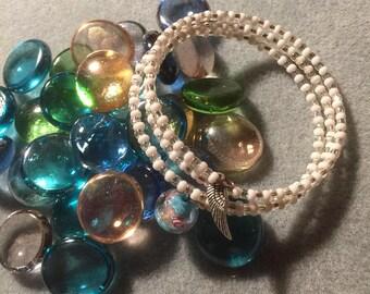 Colourful Beaded Handmade Coiled Bracelet