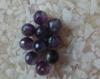 Pretty Amethyst Gemstone 6mm Faceted Beads 10 Pieces