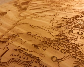 Map of Middle Earth Table Top