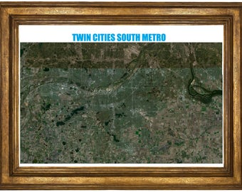 Very large highly detailed poster of the Twin Cities South Metro