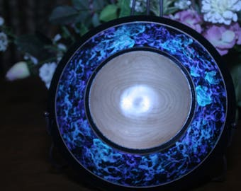 10 inch, original, hand crafted, one of a kind ,'Cosmic Cloud', platter.
