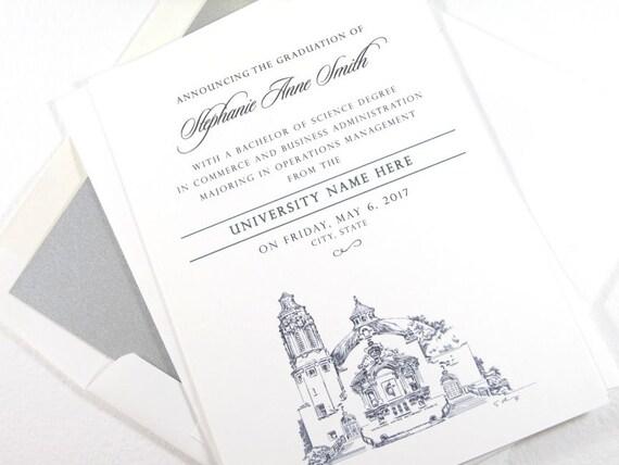 Wedding Invitations Jackson Ms: Liberty University Graduation Announcement Grad