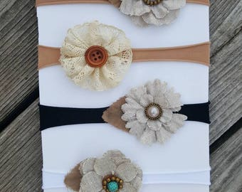 Flower newborn headbands