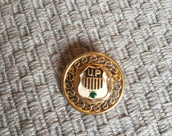 Union Pacific Service Pin 1/20 12K Gold Filled