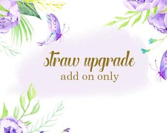 Acrylic Straws, Straw Upgrade, Swirly Straws, Colored Straws, Mason Jar Straws, Tumbler Straws, Straw Add On