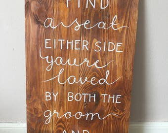 Rustic Wedding seating board