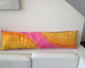 Vera Silk Scarf Long Pillow