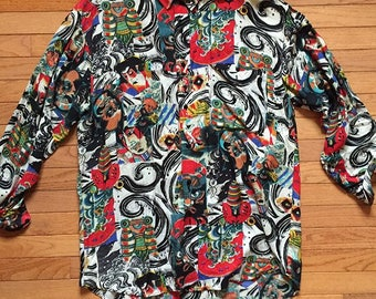 Randy River Japanese Style Button Up
