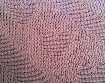 Crocheted Lilac Baby Blanket with Hearts