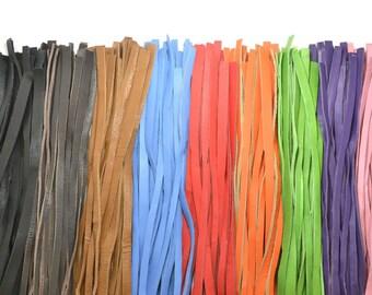 Bundle of 10 Leather thonguing, straps, strips 35cm-65cm Long